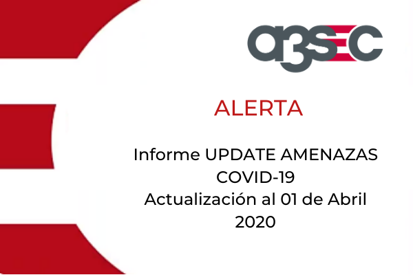 Update amenazas al 01 de abril