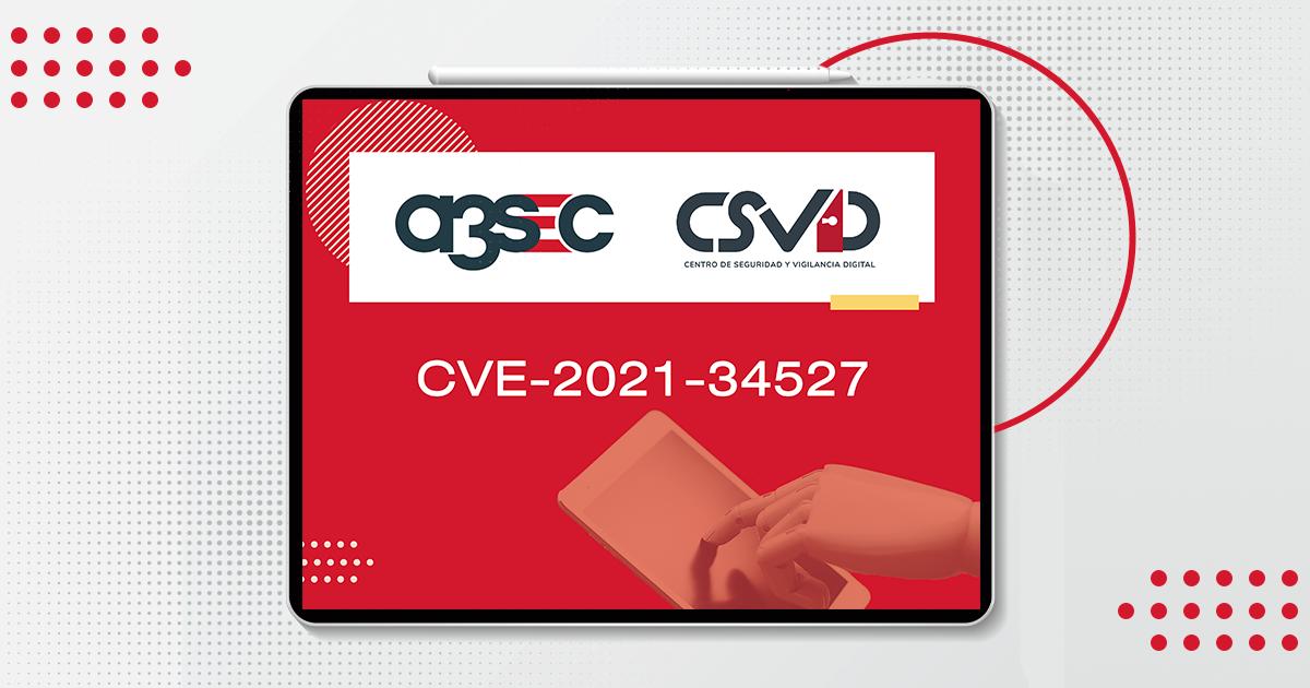 Vulnerabilidades CVE-2021-34527